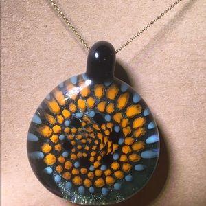 Handblown Glass Pendant.